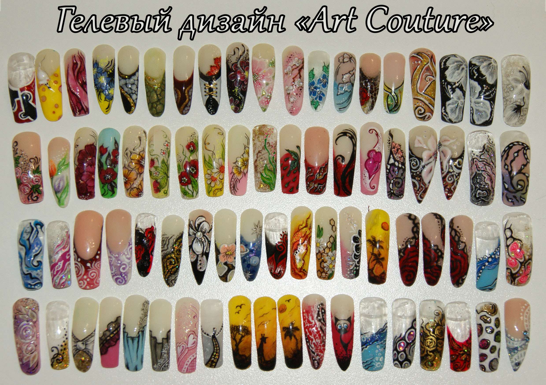 Создание рисунок на ногтях